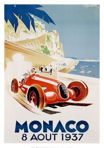 Monaco Vintage Poster 2