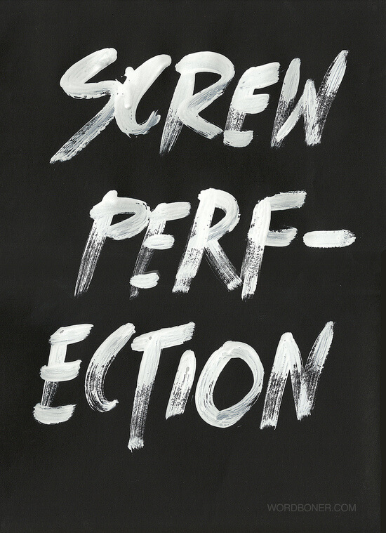 screw perfection art print