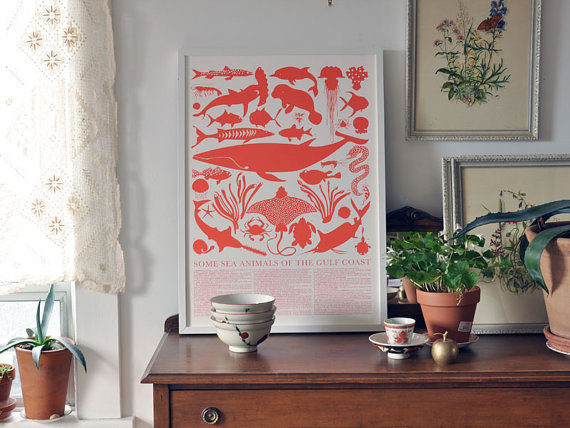 sea animals print